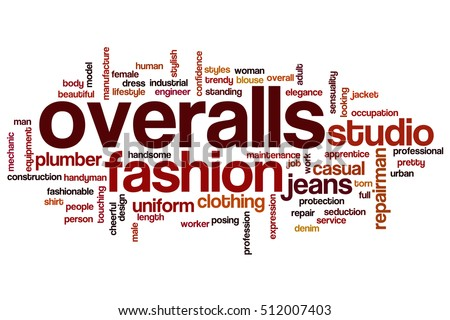 Overalls word cloud concept