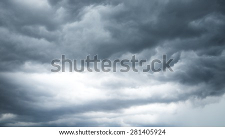 Overcast sky , Dark sky - stock photo