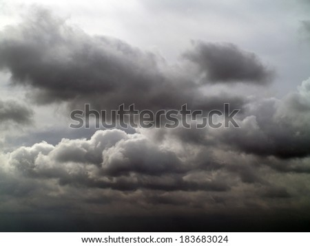 Overcast sky with storm clouds  - stock photo