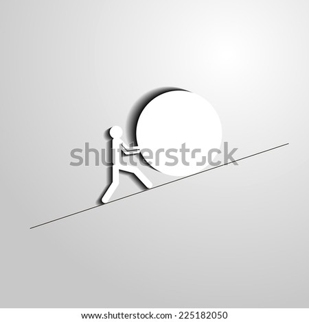 overcome obstacles - stock photo