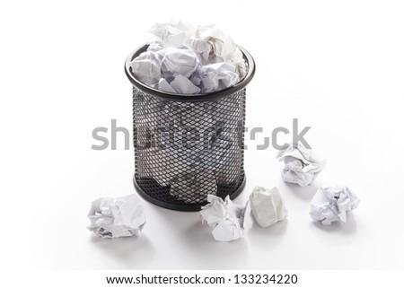 Wastepaper Basket waste paper basket stock images, royalty-free images & vectors