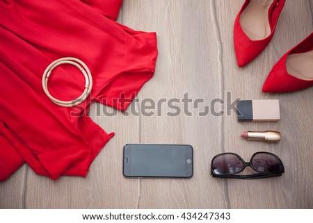 stock-photo-overhead-of-essentials-fashi