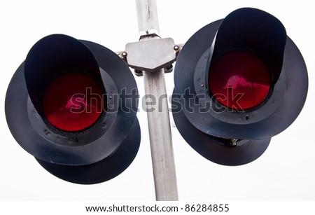 Overhead Railroad Crossing - stock photo