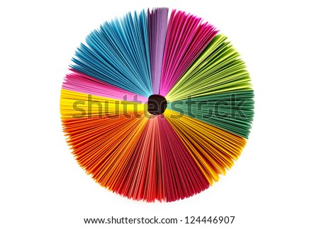 Overhead shot of color palette on white background.