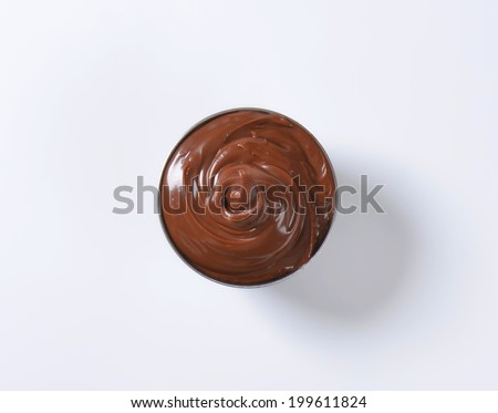 overhead view of chocolate cream swirl - stock photo