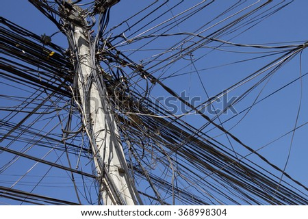 Overhead Wires, Siem Reap, Cambodia