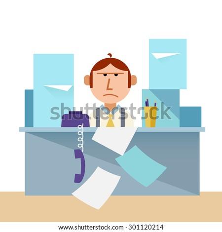 Overload work - stock photo