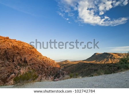 overlook-in at Red Rock Canyon - stock photo