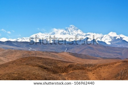 Overlook Lhotse and Everest. Taken in the way go to Everest base camp.