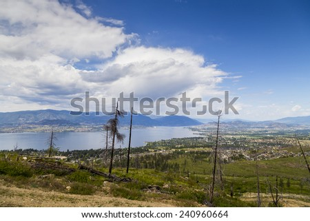 Overlooking the Scenic Okanagan Valley - stock photo