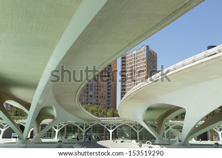 overpass from below - stock photo