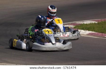 Overtake - stock photo