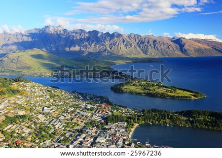 overview of queenstown, new zealand