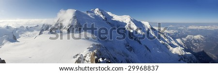 overview of the Alps - stock photo