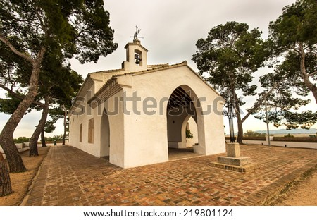 Overview of the Chapel of Sants. In Sueca. Valencia. Spain - stock photo