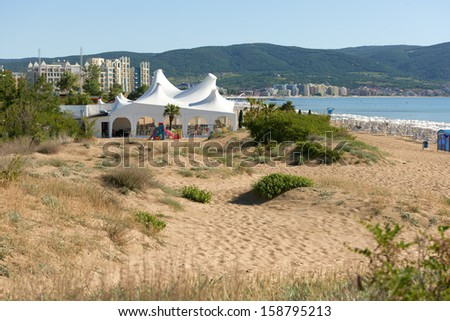 Overview on the largest holiday resort on Bulgarian Black sea shore, Sunny Beach, Bulgaria