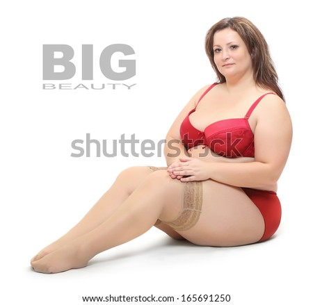 Overweight Woman Dressed In