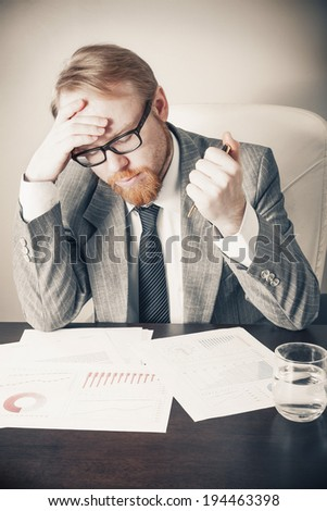 Overwhelmed at Work - stock photo