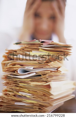 Overworked doctor - stock photo