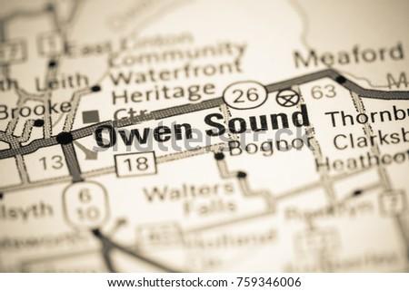 Owen Sound Canada On Map Stock Photo 759346006 Shutterstock
