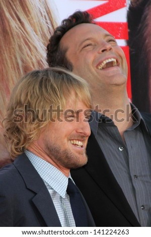 "Owen Wilson and Vince Vaughn at ""The Internship"" Los Angeles Premiere , Village Theater, Westwood, CA 05-29-13"