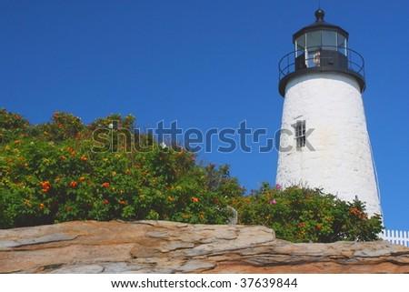 Owl's Head Lighthouse, Maine - stock photo