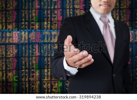 Owner Inviting Investor join Investment. - stock photo