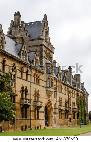 OXFORD, ENGLAND - JULY 10, 2016: Meadow building of the Christ Church college, Oxford, England. Oxford is known as the home of the University of Oxford