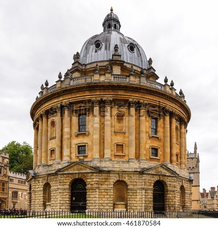 OXFORD, ENGLAND - JULY 10, 2016: Radcliffe Camera, Oxford, England. Oxford is known as the home of the University of Oxford