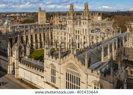 Oxford in spring - stock photo