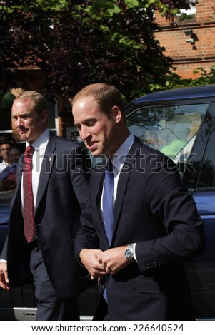 OXFORD - SEP 08: Prince William, Duke of Cambridge arrives to formally open The Dickson Poon University of Oxford China Centre Building on 8, Sep, 2014 in Oxford - stock photo