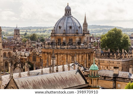 Oxford skyline with Radcliffe Camera - stock photo