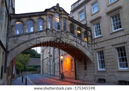 Oxford street at dawn - stock photo