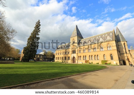 Oxford, United Kingdom - April 25, 2016: Pitt Rivers University Museum, Oxford, England.