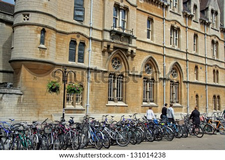 Oxford University and bicycles