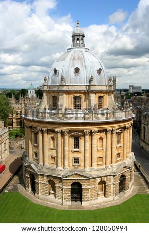 Oxford University historic library, Radcliffe Camera - stock photo