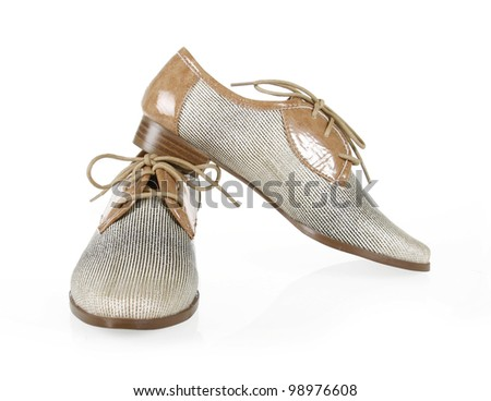 oxfords shoes on a white background