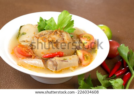 Oxtail soup, halal food - stock photo