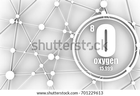 Oxygen chemical element sign atomic number stock illustration oxygen chemical element sign with atomic number and atomic weight chemical element of periodic urtaz Choice Image
