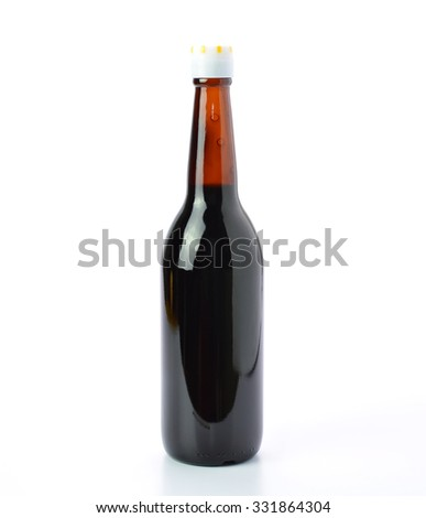Oyster sauce on white background - stock photo