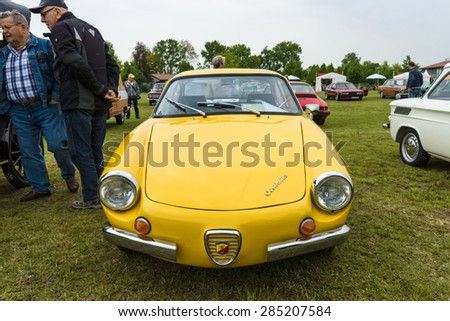 PAAREN IM GLIEN, GERMANY - MAY 23, 2015: Vintage car Cisitalia 850 Coupe Turismo Speciale, 1961. The oldtimer show in MAFZ.