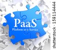 PAAS - Platform-as-a-Service - Written on Blue Puzzle Pieces. Information Technology Concept. 3D Render. - stock vector