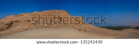 Pachacamac ruins in Lima, Peru. - stock photo