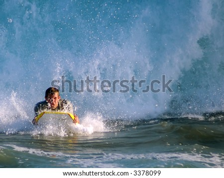 Pacific Bodyboarder at the Wedge
