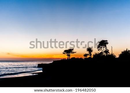 Pacific coast - stock photo