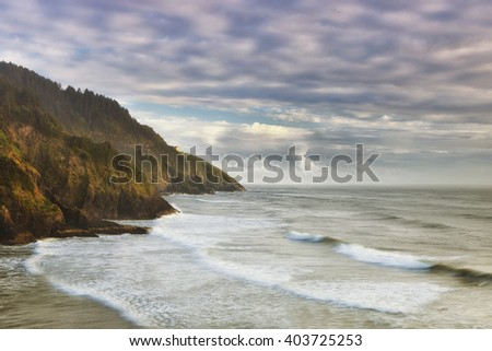 Pacific Coast along Oregon