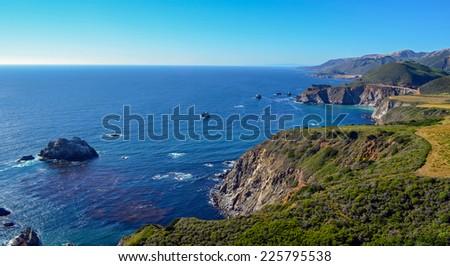Pacific coast, California. - stock photo
