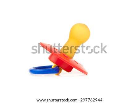 pacifier isolated on white background - stock photo