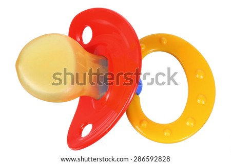 Pacifier on White Background - stock photo