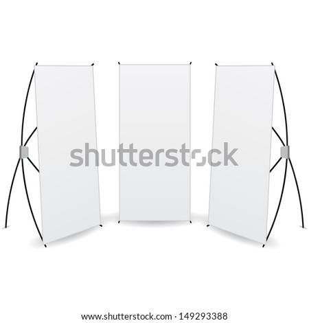pack banner x-stands display isolated - stock photo